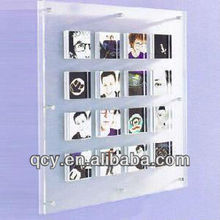 2014 clear acrylic photo frame for small pictures QCY-WDC-1044