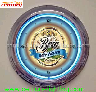 high quality neon wall clock