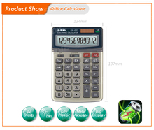 Custom logo solar 12 digits desk calculator