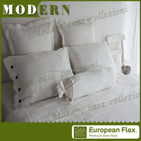 bulk buy from china linen / stone washed linen bed sheet hand work