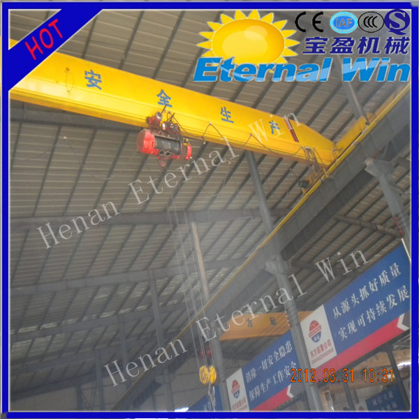 Manufacture single girder overhead crane 10 ton