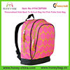 Personalized Kids Back To School Bag Hot Pink Polka Dots Custom Backpack