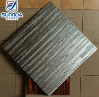 metal glazed tile , metal finish rustic wall and floor tile