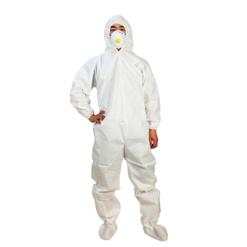 Disposable Protective Safety Coverall/Work Suit With Hood