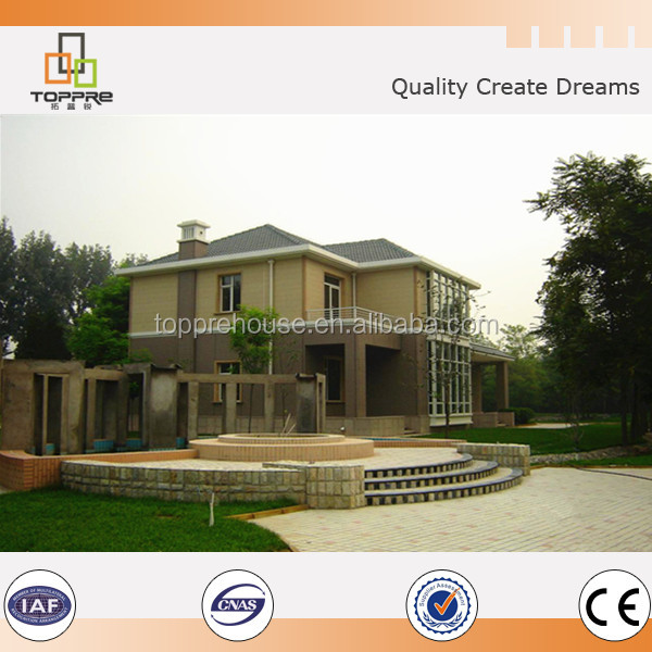 Ready made light steel frame prefab house villa