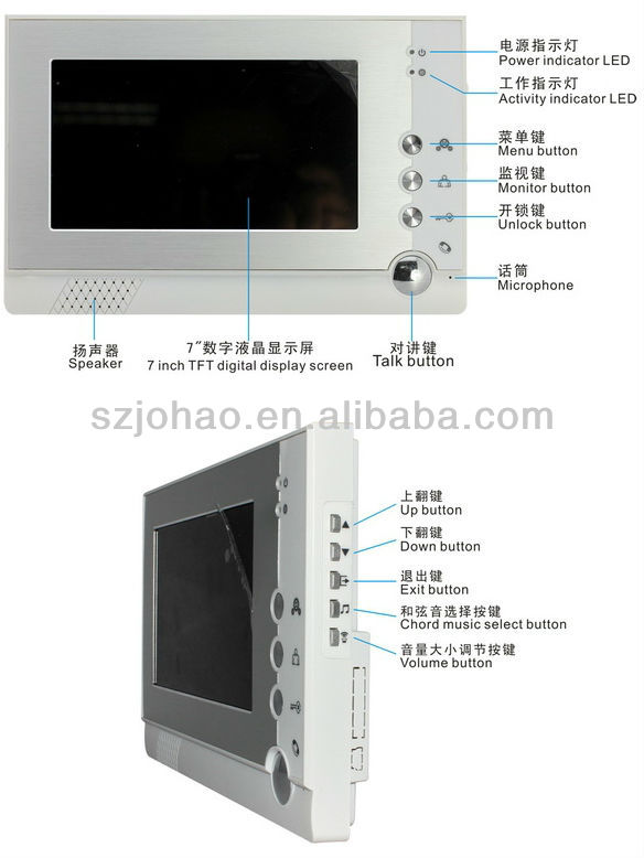 Shenzhen factory ACTOP Video Camera Doorbell with Intercom