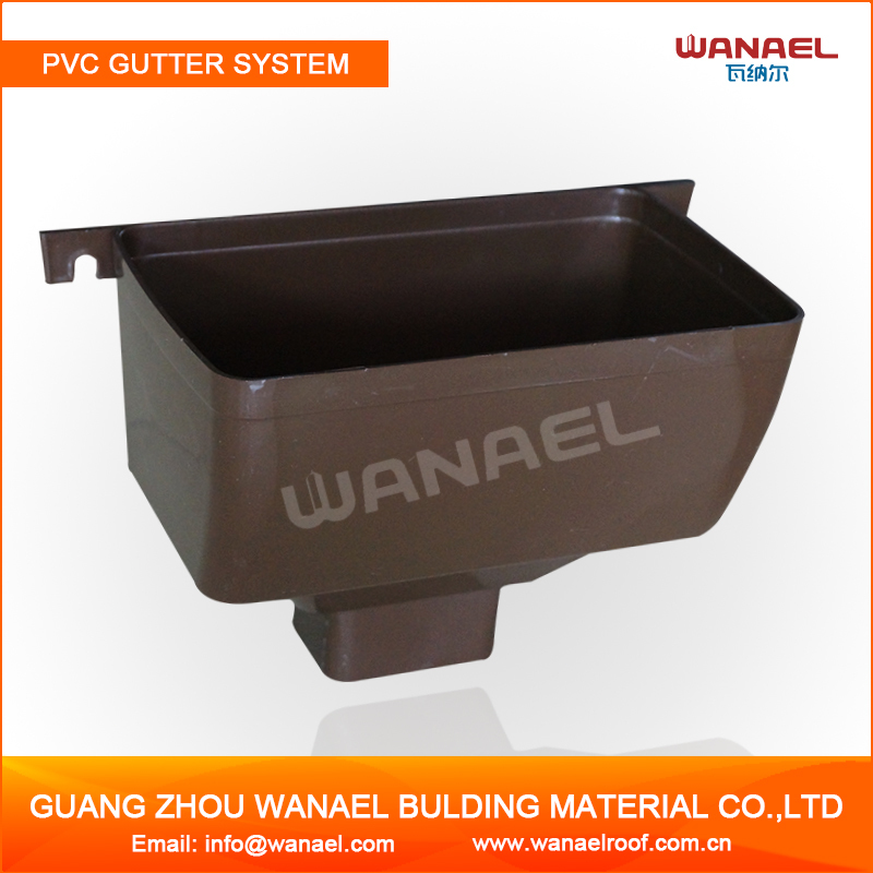7'' Square PVC Roofing Gutter Joiner