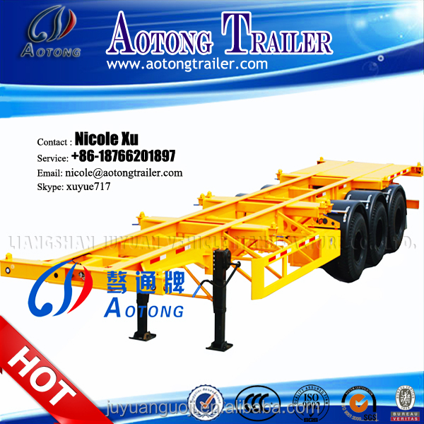 Factory direct 20ft/40ft container transport truck trailer load 30/45/60 tons with full set twist lock