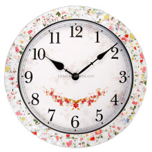 metal with colorful ceramic chip mosaic different types of clocks personalized wall clock