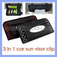 Black with Red Pattern 16 CD DVD Pouch Paper Tissue Box Holder for Cars