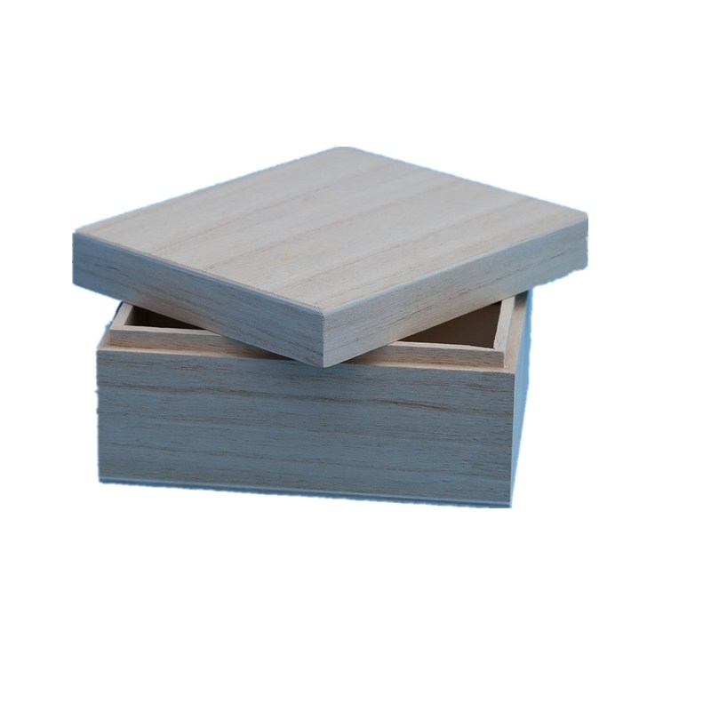 Hollow Cornice Box with Hinged Lid, Unfinished Wood for Arts, Crafts, Hobbies and Home Storage