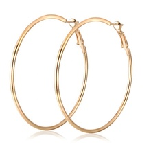 Promotion gold silver fashion hoops earrings 925 for women