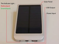 Solar Power Bank 2600MAH Battery 0.7 Watt Solar Panel