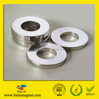 Permanent axially magnetized ring magnets