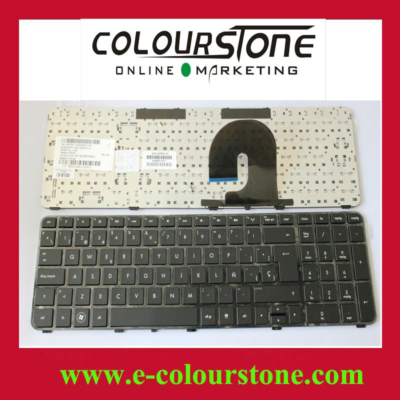 Brand New Laptop keyboard SP version BLACK for HP DV7-4000 DV7-4100 Series with Fream SP version BLACK color