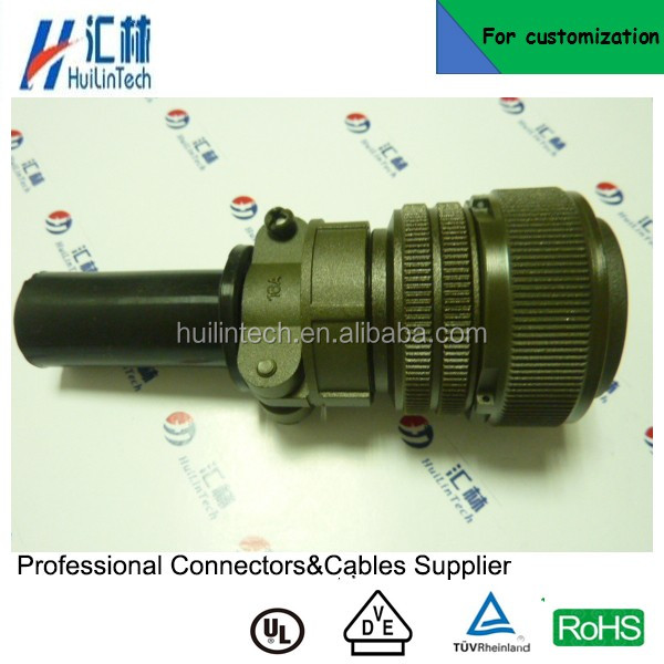 MS3106A military male plug MIL C 5015 connectors with 3057 cable clamp