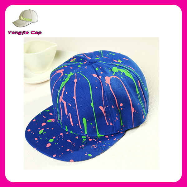 colorful fireworks printed unique custom design snapback hats in blue