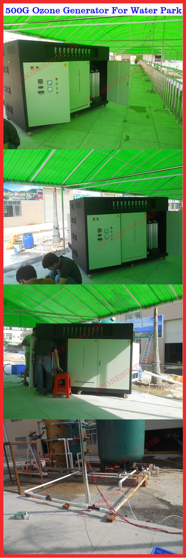 Heavy Duty 100g Ozone Generator For Swimming Pool Domestic Circuit Water Industrial Wastewater Aquaponic