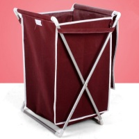 SW Home furniture portable folding storage fabric closet collapsible plastic laundry basket