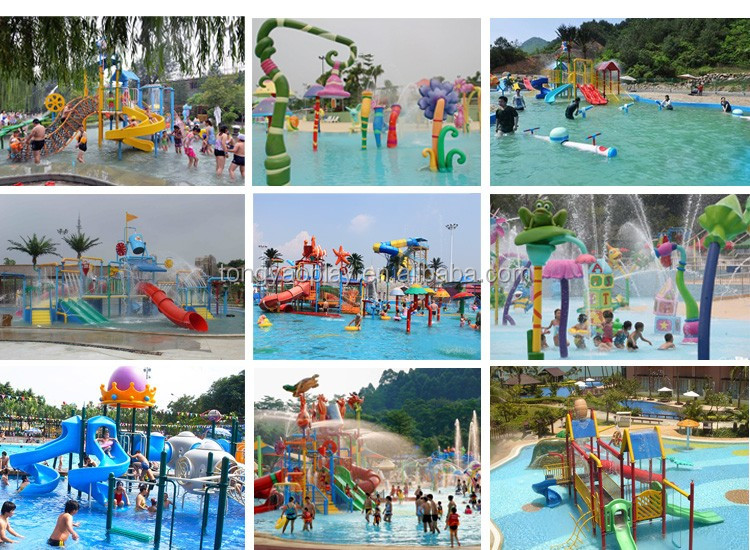 Mini fiberglass water toys equipment cartoon Water spray  for sale