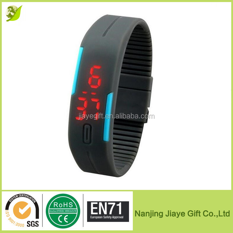 Silicone Led Flashing Slap Watch for Sports
