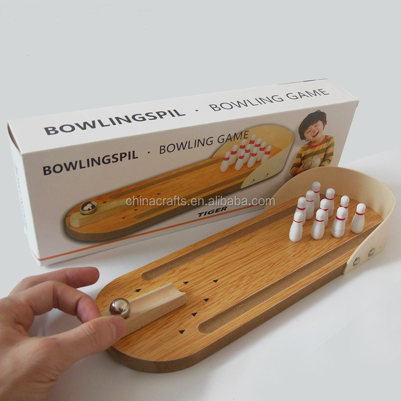 Creative toys Mini bowling game wooden toys for children