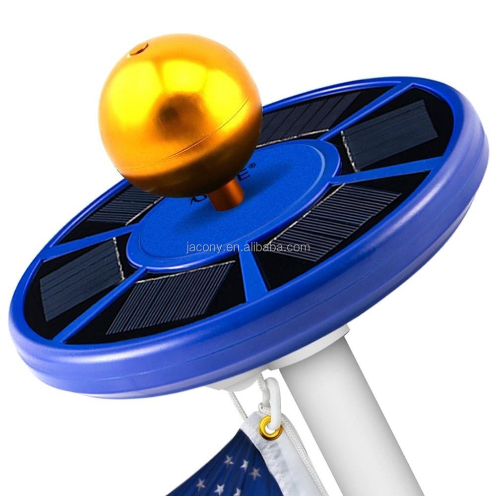 Blue Color Solar Energy Saving Flagpole Light Flag Pole