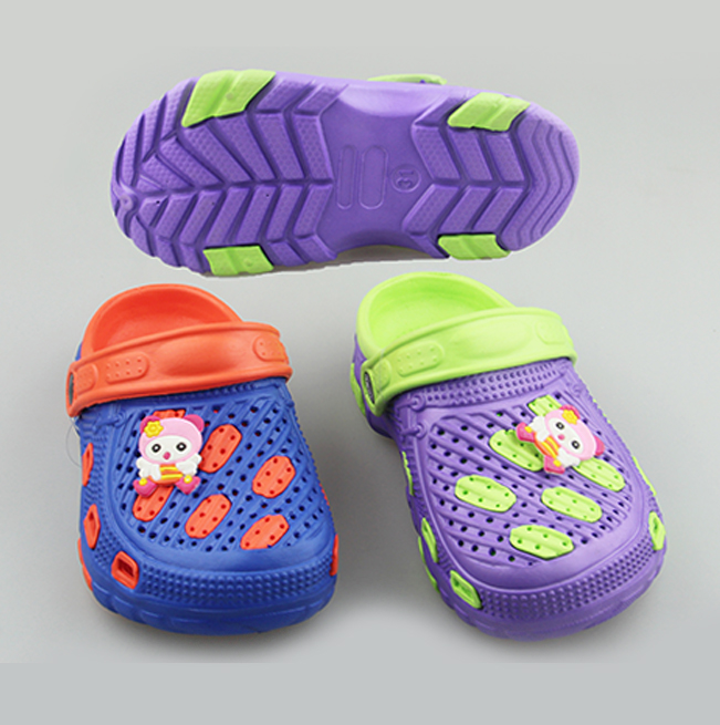 2019 Custom Logo Infant Colorful EVA Clogs With Drip Plastic Children Popular Garden Shoes Girls&Boys Cheap Jelly Shoes Sandals