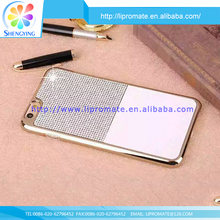 Fashion desgin 100% brand new bling leather 3d diamond bling pc case for iphone5