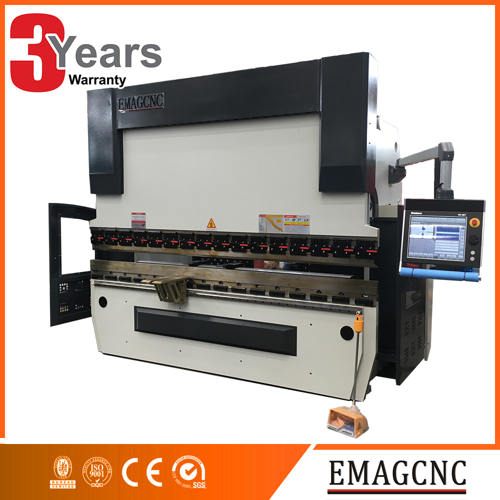 mechanical compensation hydraulic cnc WE67K-100T/3200MM press shears brakers machine exported