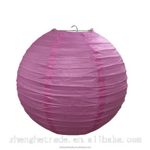 Pink folk art wedding and party decoration hanging Chinese tissue paper lantern