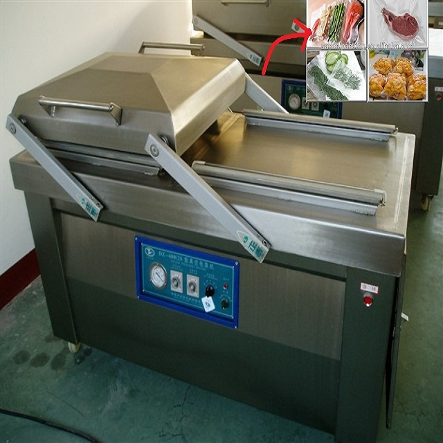 Dual Chamber Vacuum Packing Equipment For Food