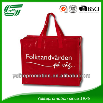 Zippered PP WOVEN BAG for promotion