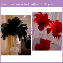 QT00025 Wedding Decorations Artificial Bulk Artifial Cheap Black Ostrich Feathers