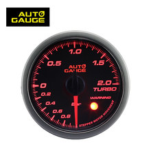 52mm Car Parts LED Smoke Lens 2 Color Turbo Pressure Boost Gauge with sensor