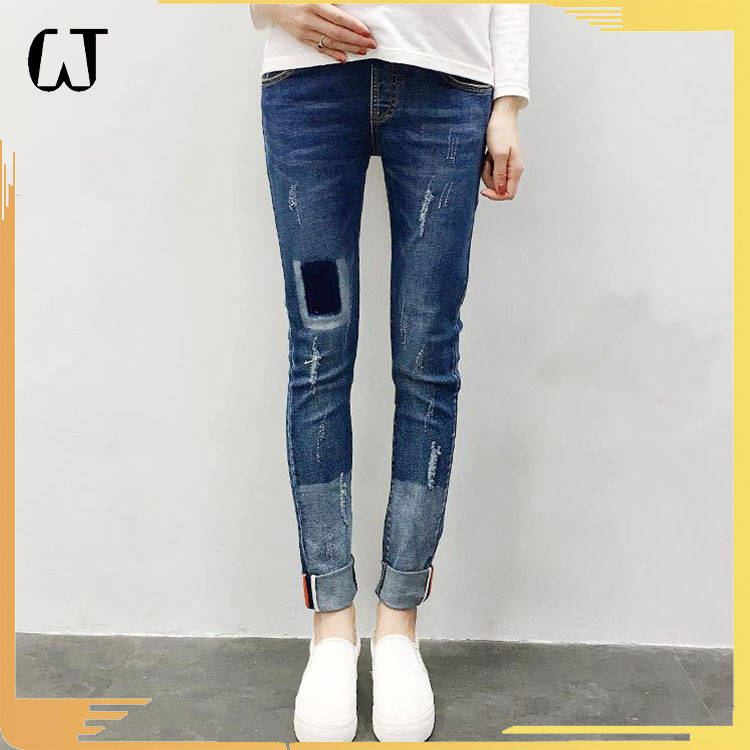 J2901 2017 autumn women jeans maternity skinny special washed pants maternity jeggings stocks