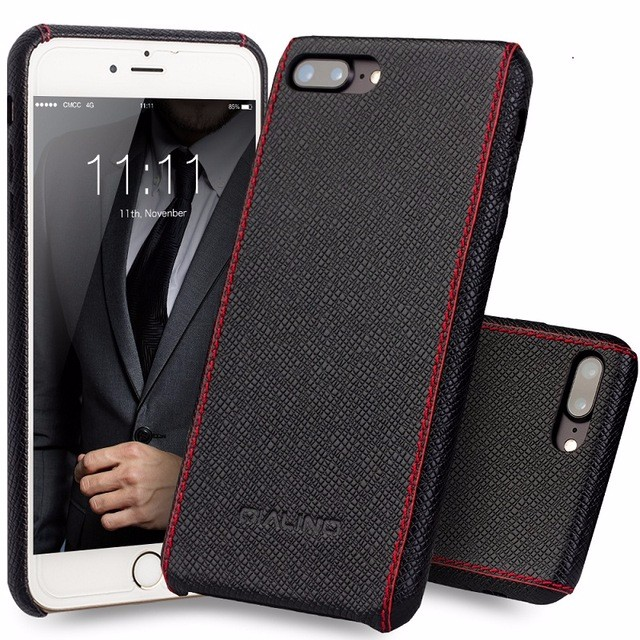 QIALINO Online Shopping Luxury Genuine Leather For iPhone 7 Cover Case, Case For iPhone 7 plus