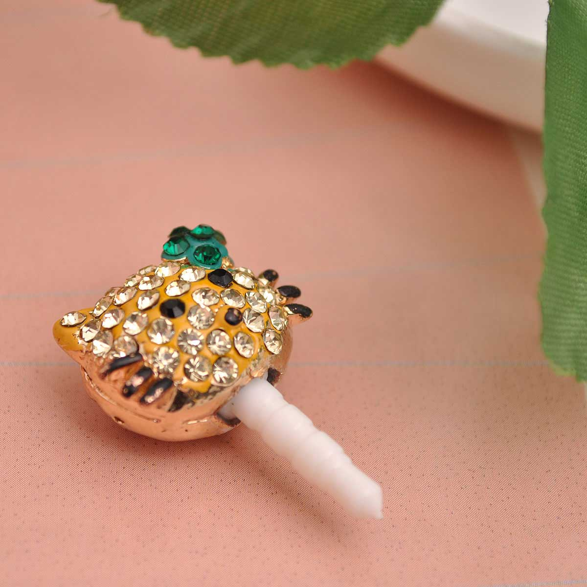 Bling Crystal iphone dust plug