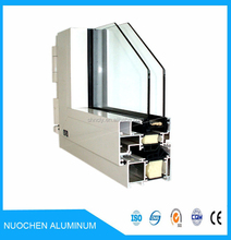 anodize aluminum extrusion profile with slivery white colour for good price of aluminium sliding window in shanghai China