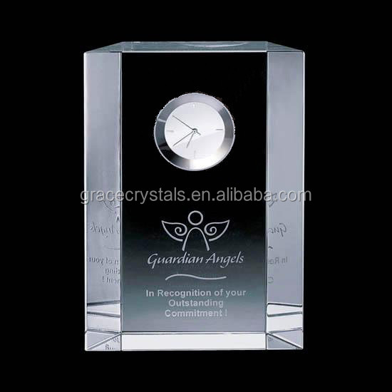 Fashion classical table clock crystal engraved promotional clock