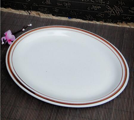 Ceramic plate/pure white elliptic fish dish plate/factory inventory of hotel stock and trade tail goods