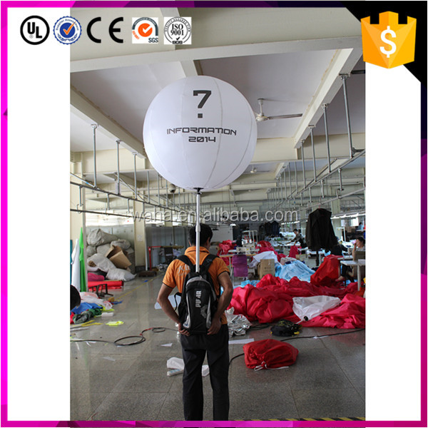 Popular Inflatable Backpack Ball/advertising lighted balloon for events display