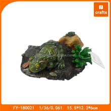 Resin frog on rock Japanese decorations aquarium