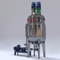 Liquid detergent mixer heating emulsifyin liquid detergent container plant