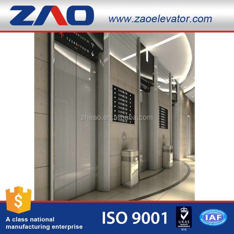 ZHEAO Indoor Outdoor Machine Room Less Professional Passenger Lift Elevator Price