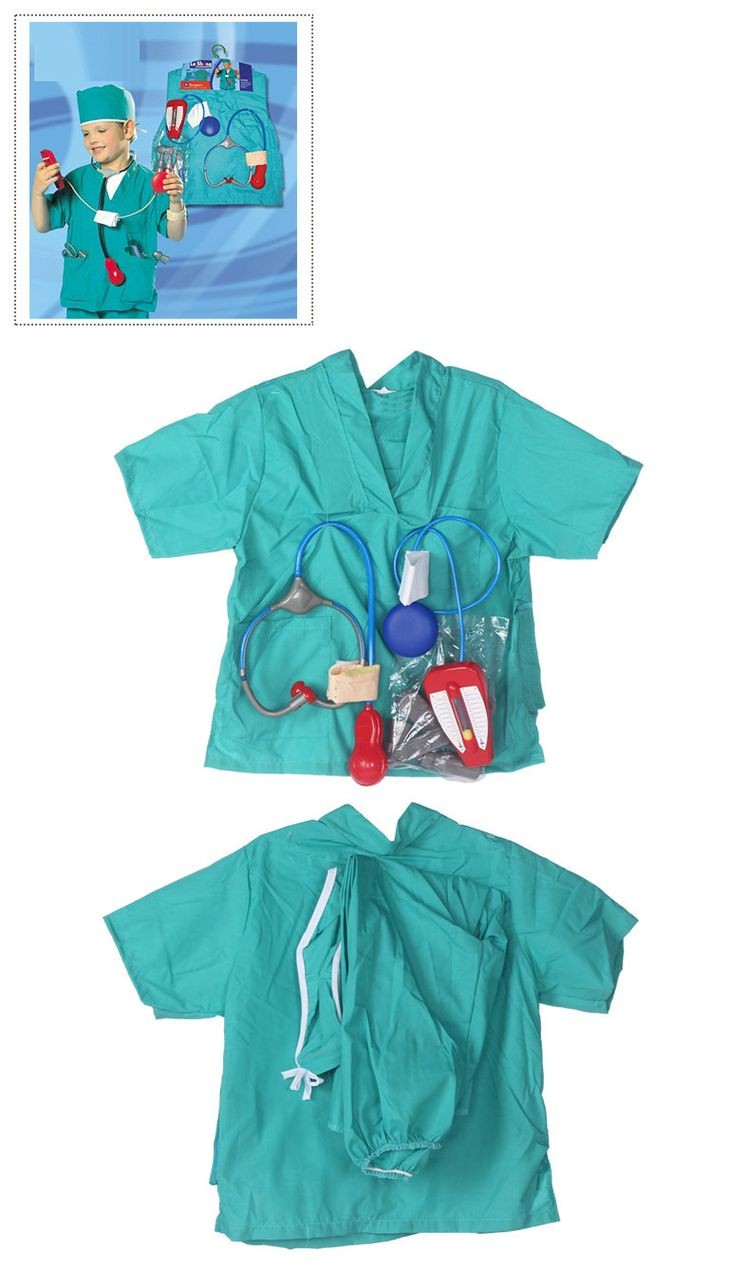 7000969-Girls Boys Halloween Costumes Surgeon Sets Doctor Cosplay Stage Wear Clothing Children Kids Party Clothes Free Drop Ship