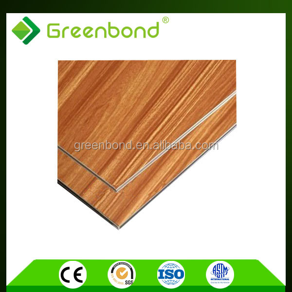 Greenbond high gloss anti-static wood plastic composite exterior wall cladding panels