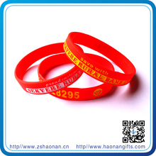 brand new custom birthday present silicone wristband for corporate anniversary gifts