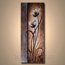 Handmade modern abstract painted pictures of flowers