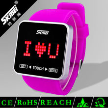 Wholesale color silicone touch screen digital watches for kids